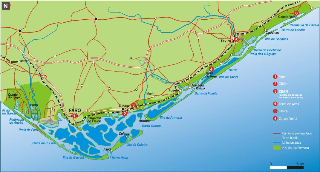 mapa-Ria Formosa